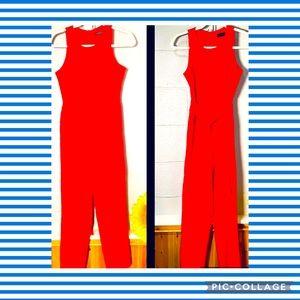 Lavish Alice Size 4 Red Jumpsuit with Belt